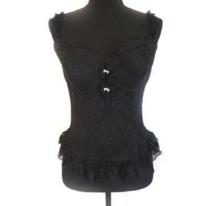 Other - Black lace corset lingerie top 40D